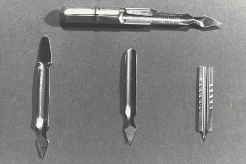 Vaccination instruments used prior to bifurcated needle